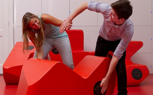 Futuristic interactive furniture